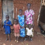 Photo of Ugandan widow and children