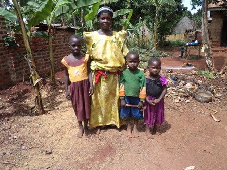 Zabina Nalumondo and family