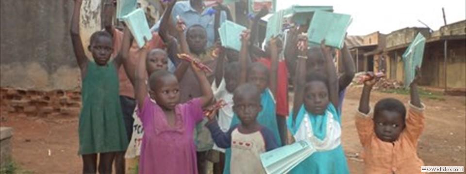 School children say thank you